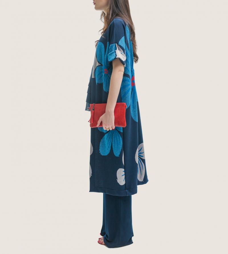 Kimono Premaman Jacquard Nicol Caramel Milano