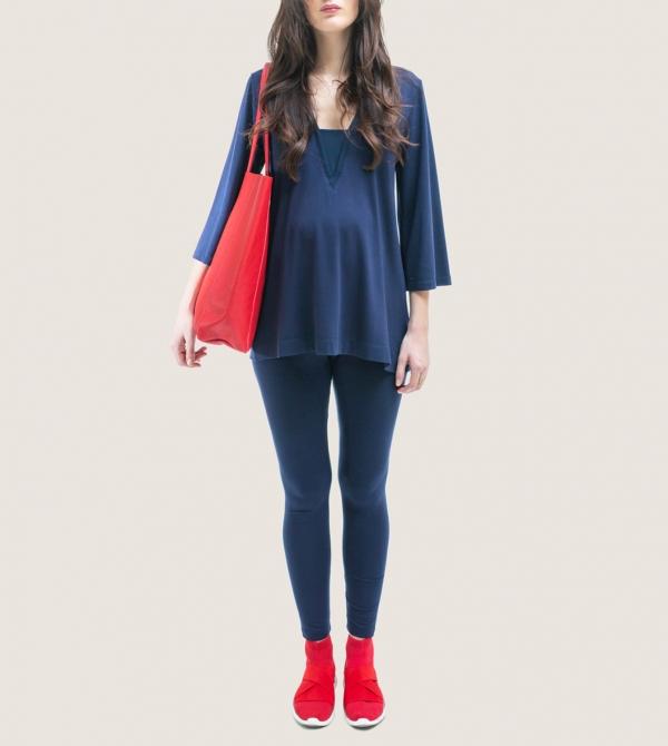 Leggings Premaman Blu Nicol Caramel Milano