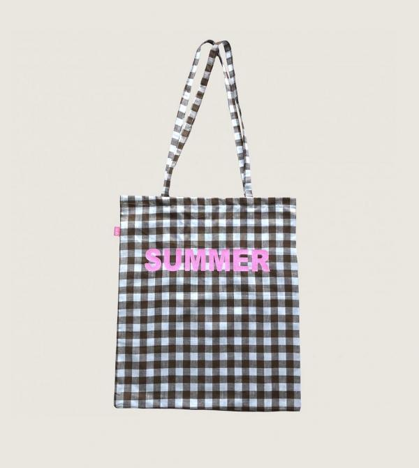 Shopping Bag in Cotone Nicol Caramel Milano