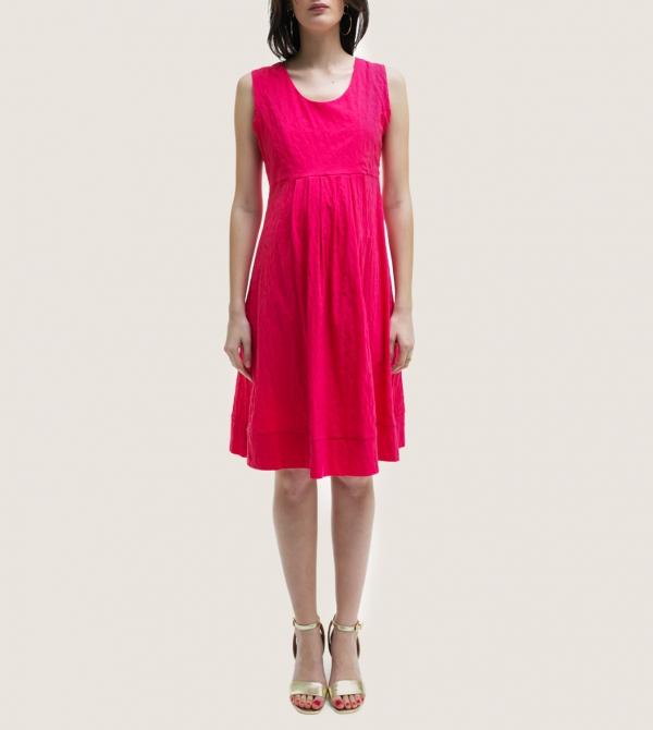 Bright Pink Short Maternity Dress Nicol Caramel Milano