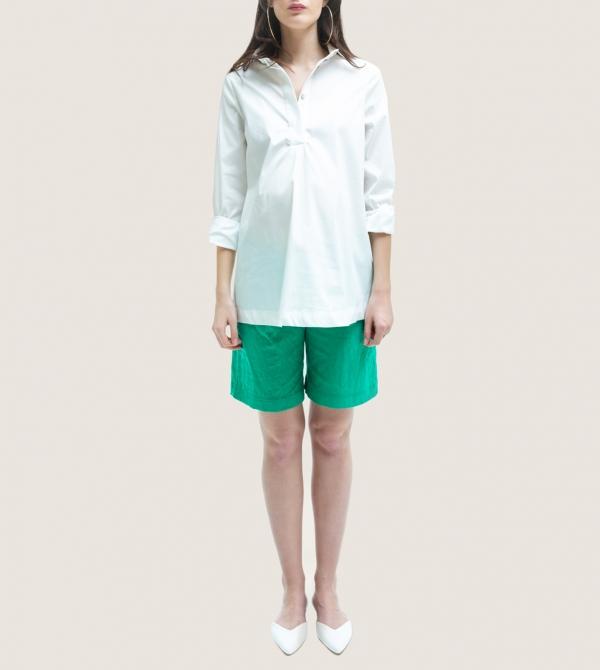 Green Maternity Short Pants Nicol Caramel Milano