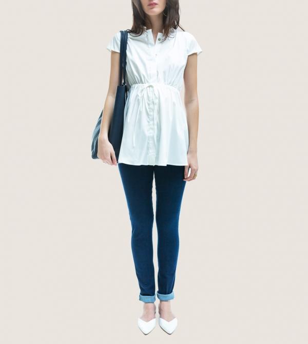 Jeans Maternity Skinny Leg Stretch Nicol Caramel Milano