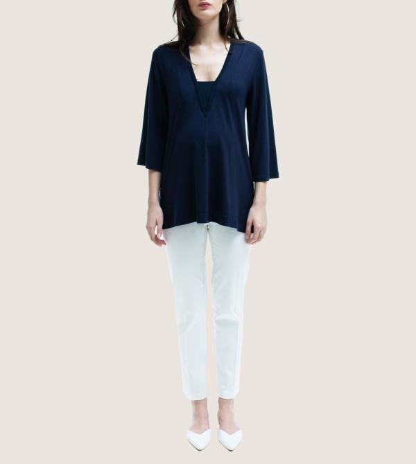 Maternity White Crop Pants Nicol Caramel Milano