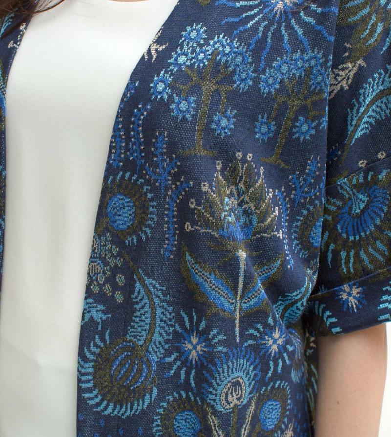 Kimono Premaman Jacquard Soprabito Elegante Cernimonia Nicol Caramel Milano