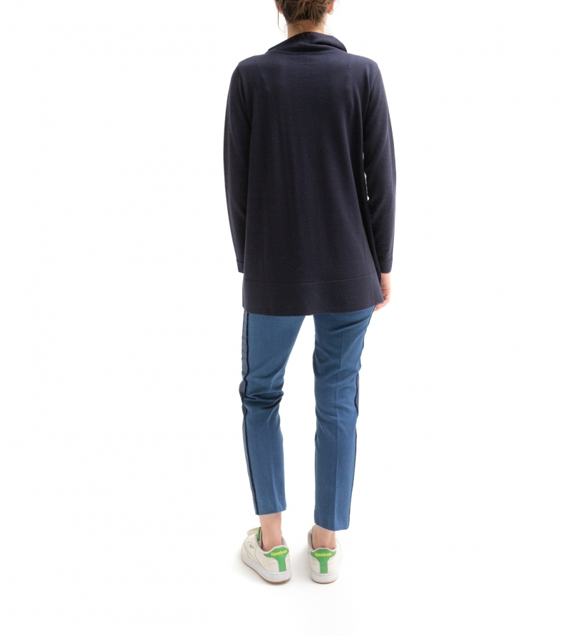 jeans premaman cropped a vita alta - nicol caramel milano