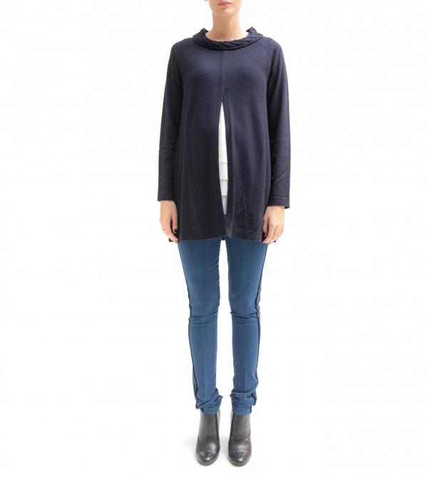 Jeans premaman skinny a vita alta con dettaglio laterale - Nicol Caramel Milano