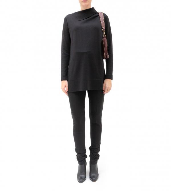 Pantalone premaman skinny vita alta nero - Nicol Caramel Milano