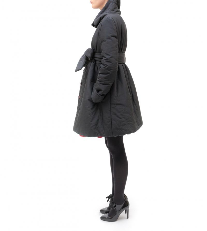 Giacca in piumino con cintura - Nicol Caramel Milano